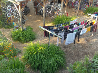 Bike  Shed and Laundry Line