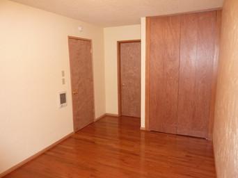 Bedroom NW Corner, doors to living room and hall