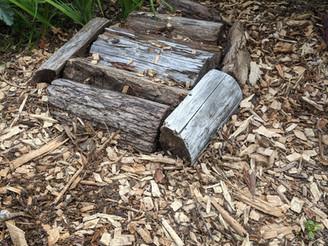 Tiny House Greywater Woodchip Mulch Basin