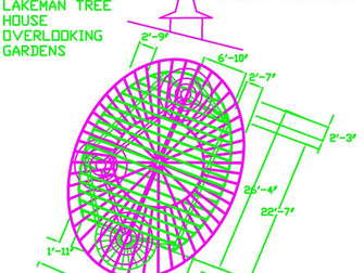 Tree house deck and roof structures with