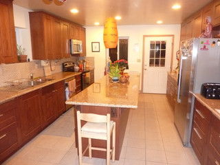Kitchen Island from Living Room