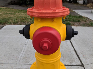 Intersection Fire Hydrant Got a Face Lift