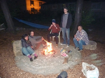 Firepit Inauguration with Kyra, Adam, Charlie, Will and Martin