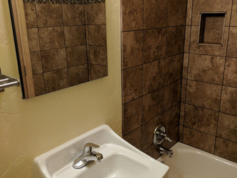 Bath Toilet and West End of Shower