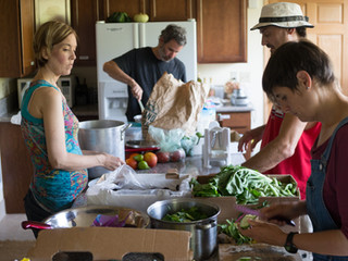 Food Not Bombs Preparing a Free Meal for People in Need