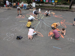 Sketching Out the Drawing with Chalk