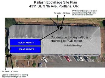 Schematic for the 2 10 Killowatt Solar Arrays, Feeding Unit 17 and The Laundry Room