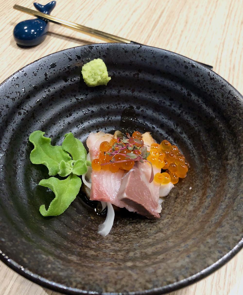 Tasmanian yellowtail kingfish sashimi