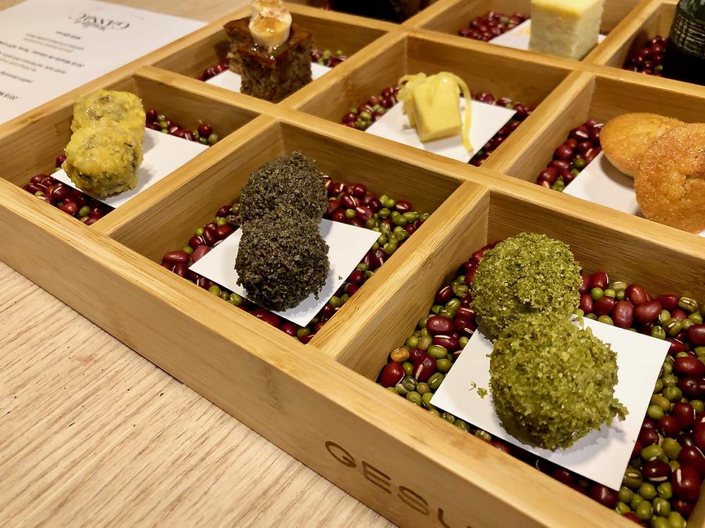 Gesuto KL's dessert bento featured an assortment of petit fours
