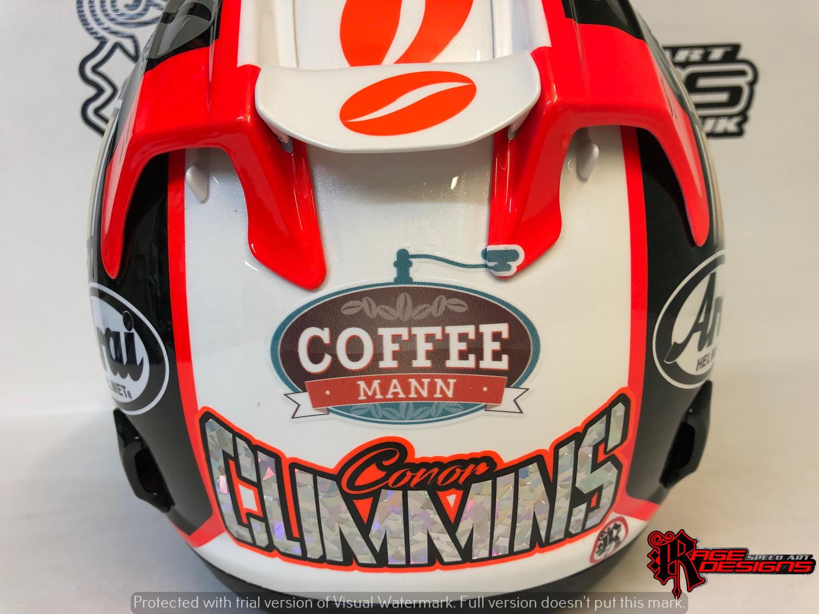 Conor Cummins - 2019 Arai Helmet Design by Rage Designs