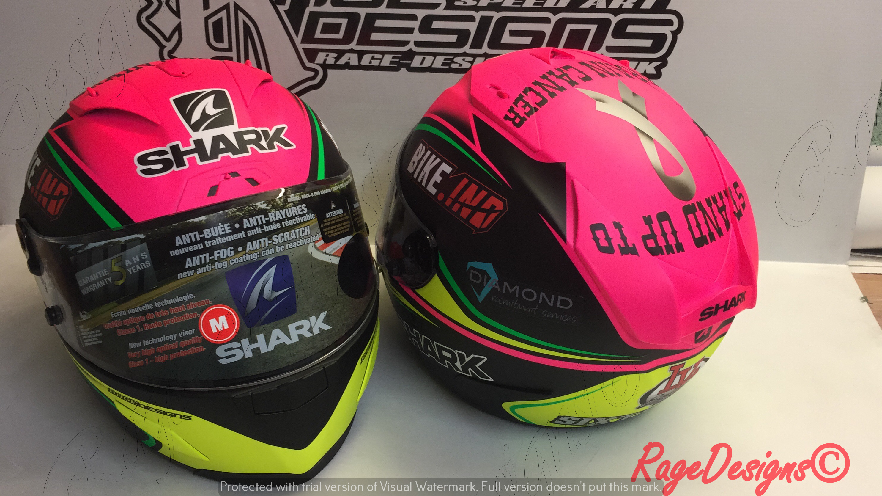 Race Helmets by Rage Designs