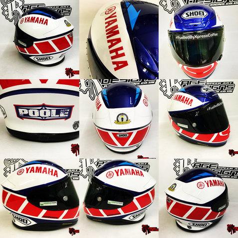 Custom Helmet Designs - Yamaha - Shoei - Rage Designs