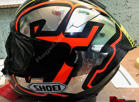 Shakey Byrne Replica Shoei Helmet
