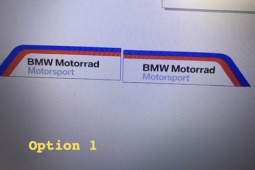 BMW S1000rr  Motorad  Belly Pan Decals