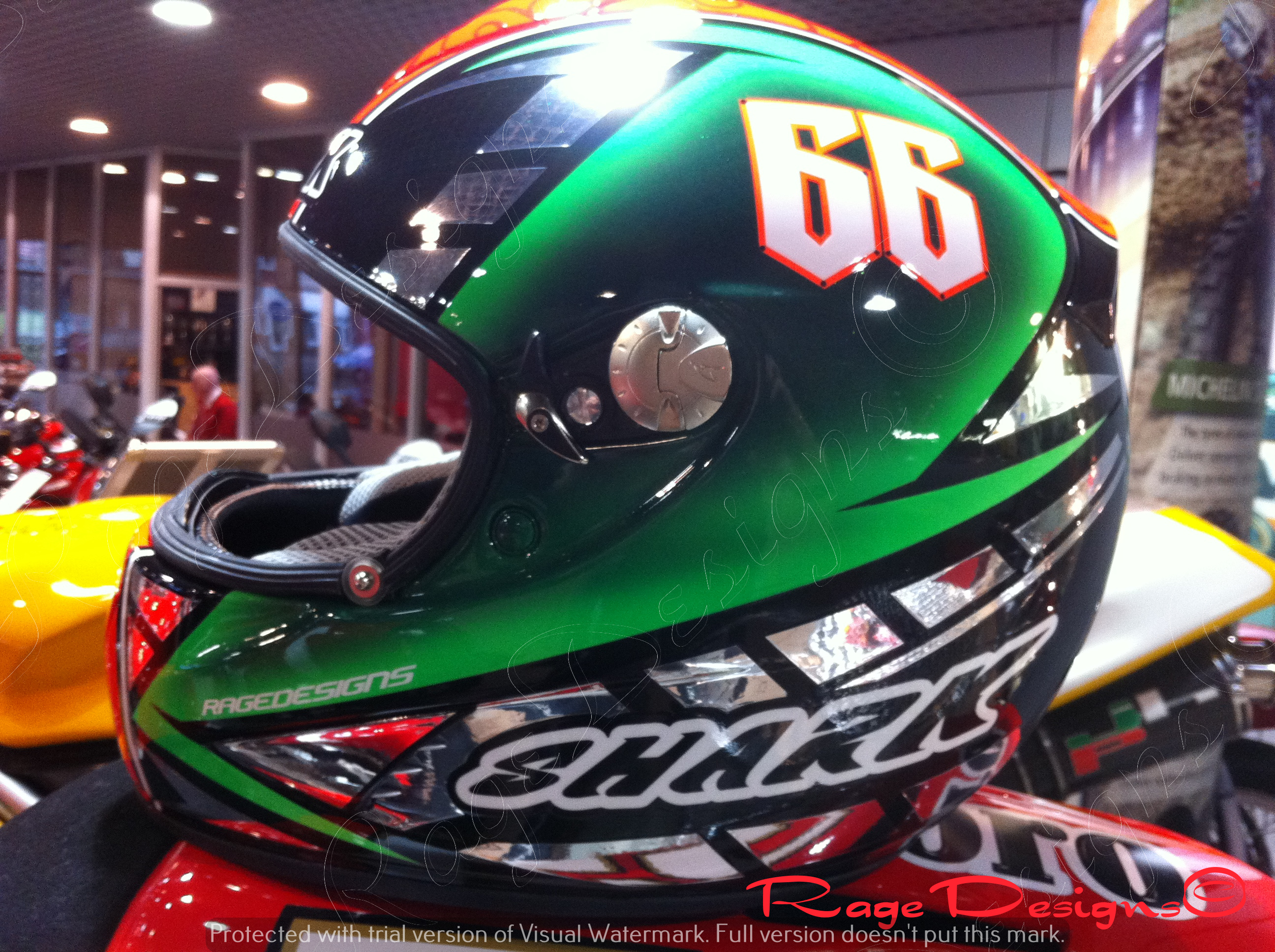 Tom Sykes Helmet by Rage Designs