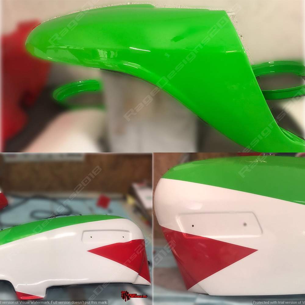 Keep it mixed up - today been working on Milwaukee Aprlilia bodywork and on the flip side a custom design for a Lambretta - interesting day here at Rage Designs