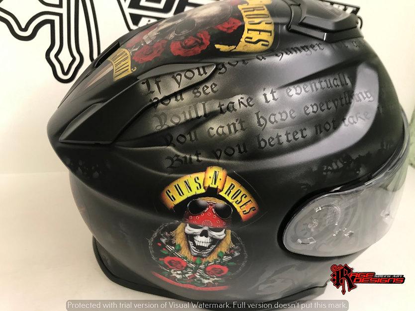 Custom Guns N Roses Shoei - Rage Designs