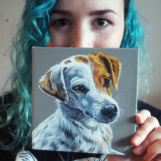 Mini portrait on canvas