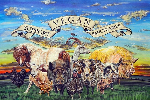 Support vegan sanctuaries - print