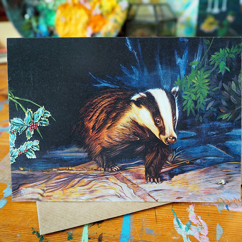 Holly and badger card
