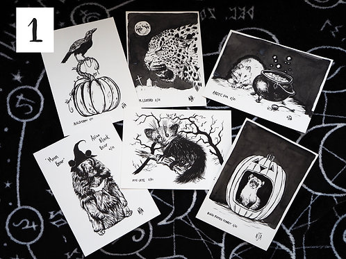 Hallowinktober postcard packs