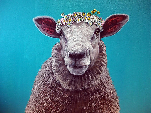 Do you like me now? Sheep painting original