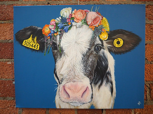 Do you like me now? Cow painting original