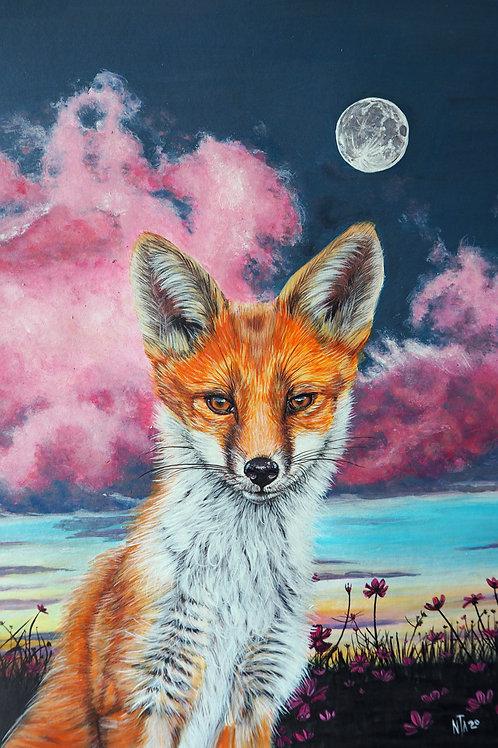 Save the fox print