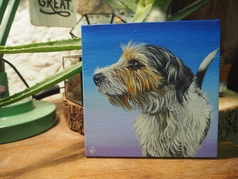Mini canvas with gradient blue to purple background
