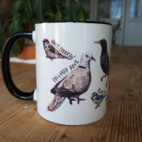 Garden birds of the UK mug