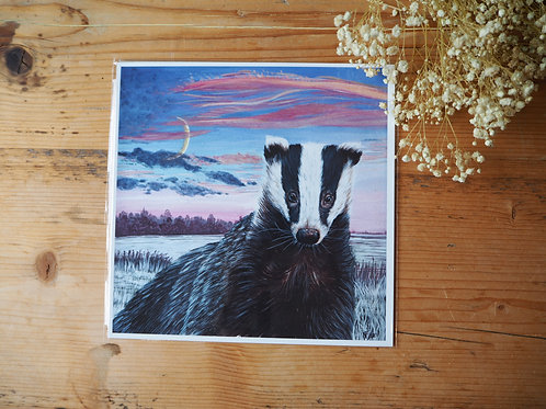 Save the badgers print