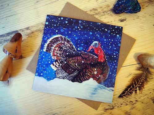 Turkey at Christmas card