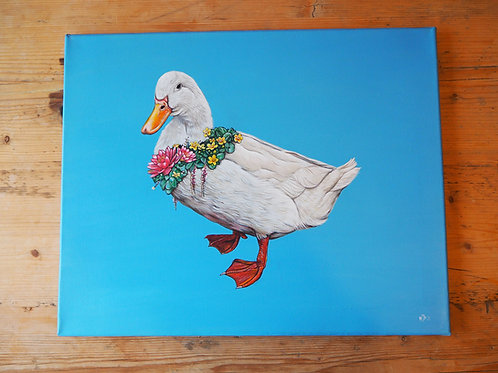 Do you like me now? Duck painting original