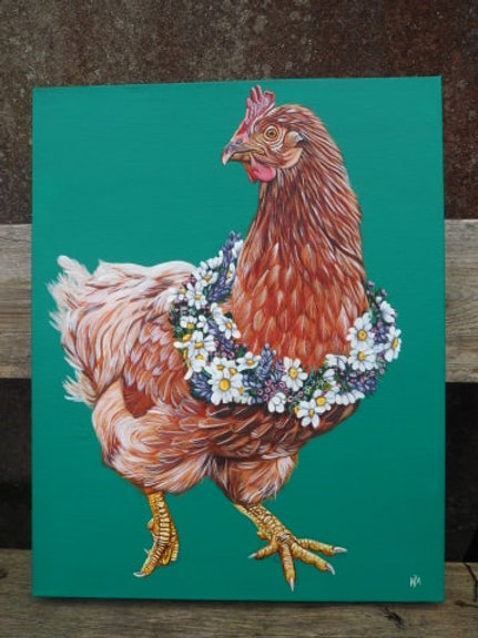 Do you like me now? Chicken painting original