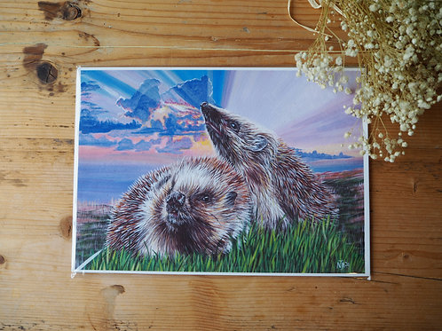 Save the hedgehog print