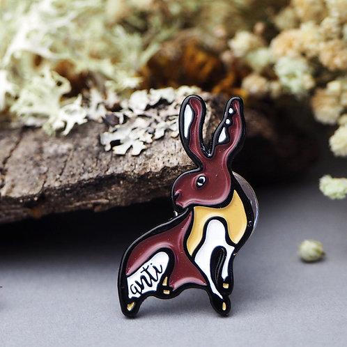 Hare - Bath hunt saboteurs pin badge