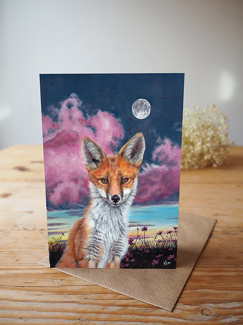 Save The Fox card