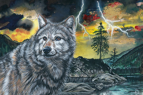 Mindful Moment Print - Number 6 - Sometimes more wolf