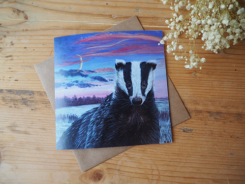 Save the badger card