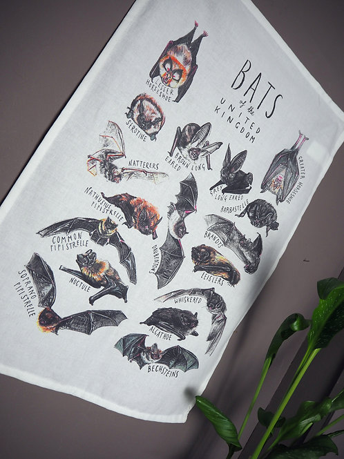Bat tea towel/wall hanging