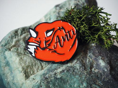 Fox - Bath hunt saboteurs pin badge