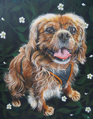 A3 portrait with leafy background