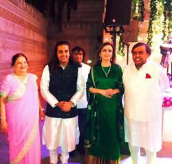 Ankit Batra with Mr. Ambani & Family