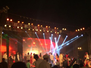 14th feb: Enjoyed playing at this Dual Anniversary (25th and 50th) Show at PC Chandra Lawn 2. God bl