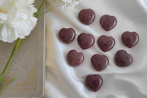 Coeur en quartz fraise