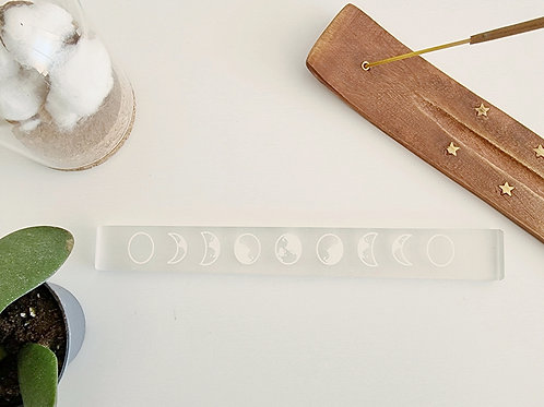 Plaque lune en Selenite