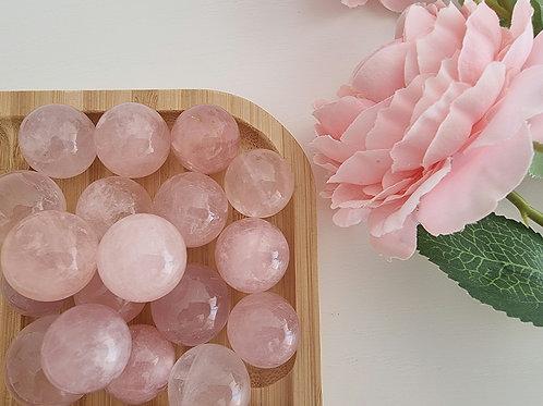 Mini sphère de Quartz rose