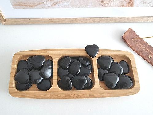 Mini Coeur d'obsidienne noire