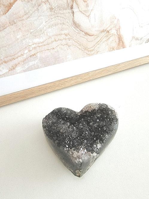 Coeur en Amethyste noire