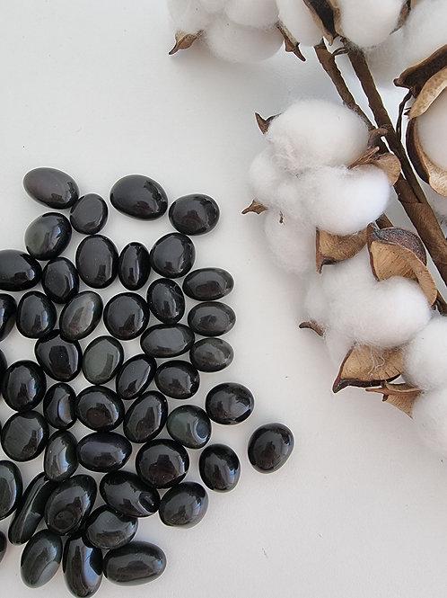 Mini pierre roulée d'obsidienne noire